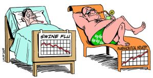 Swine Flu's Hidden Agenda C by Latuff2