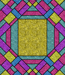Triangle, Squares, and Lines 001 - colored by midniteoil
