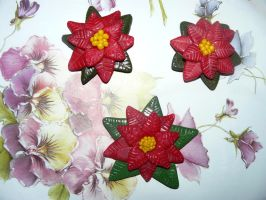 Polymer clay Poinsettia by RODOTHEA