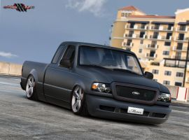 Ford Ranger Black Matte by MurilloDesign