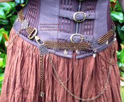 Brass and Copper Chainmail Belt - Display Outfit 3 by ulfchild