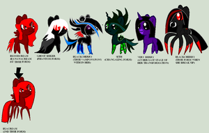 my main 6 and REAL form Oc by BlackCherry1994