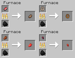 Minecraft Recipe Ideas - New Meat Drops by FawkesTheSkarmory