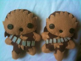 Two Wookie Plushies by CheesyHipster