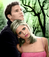 Buffy and Angel -colored- by marea707