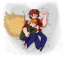 Give Me Wings : SABRIEL by SmasherlovesBunny500
