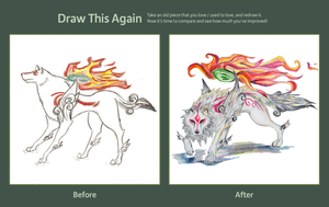 Draw This Again Entry: Okami by oXWoLfXo