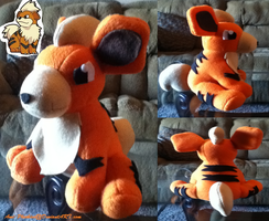 Small Growlithe Plush Sold by Ami-Plushies