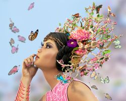 Madame Butterfly by Roy3D