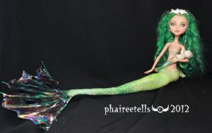 MH monster high repaint 14 CLEO mermaid by phairee004