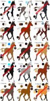 21 Equine-Horse Adoptables-Closed by HDevers