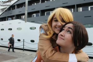 Snk Cosplay - Ymir/Krista by CrackedCosplay