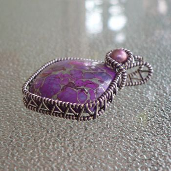 Purple Turquoise with Silver Veining by magpie-poet