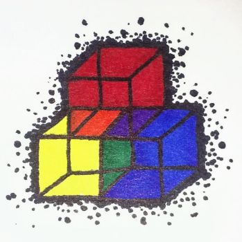 Tattoo Idea: Raibow Cubes by XioTehLeafKing