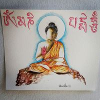 Buddha Painting, Watercolours by saintvinod