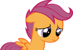 Sad Scootaloo by RainbowCrab