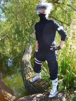 Kakashi by the Lake by firecasterx2