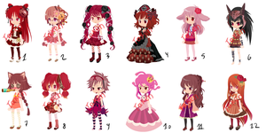 Free Dream Selfy Adopts GIRLS (CLOSED) by PlushKlavier