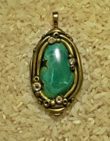 Green jasper pendant by Sweet2Spicy