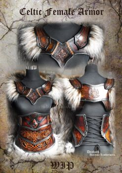 Celtic Female Armor set - WIP by Deakath
