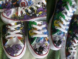 Team Rocket Custom Converse