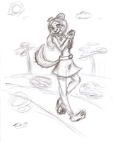Happy Walk -sketch- by Django90