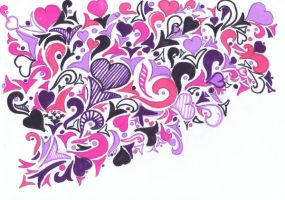 Purple and Pink by Meret-Alexandra