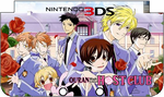 Nintendo 3DS XL Ouran HSHC Faceplate by TheWolfBunny