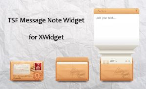 TSF Message Note Widget for xwidget by jimking