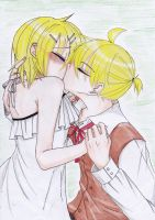rinxlen : here they kiss.. by kagaminemiwako