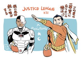 Shazam and Cyborg by Sii-SEN