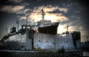 Alaska Warrior in Drydock by Muskeg