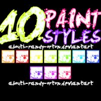 10 Paint Styles For Photoshop by UnlimitedPatrick