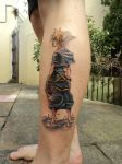 Sora Kingdom Hearts tattoo by plastic-anime