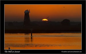 Mill at Sunset by Andrew-and-Seven