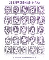 25 Expressions - Maya by alex-heberling