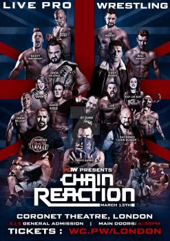 WCPW London Chain Reaction official poster by Ahmed-Fahmy