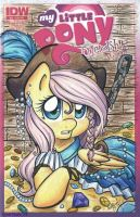 Pirate Fluttershy comic cover (SOLD) by LeekFish