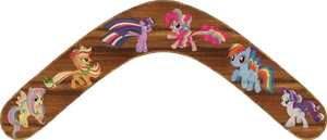Rainbow Power Mane 6 Boomerang by Out-Buck-Pony