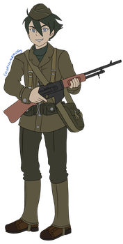 Commmission: Historyman101: AU Army Dominic by colormymemory