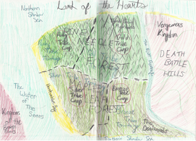 Land of the Hearts Map! Legend In Description by sneezefeatherWarrior