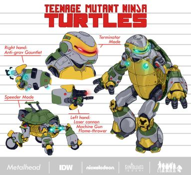 Metalhead_TMNT_Design by Santolouco