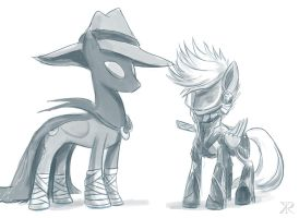 Raiden Derpy and Mare do Luna by Raikoh-illust