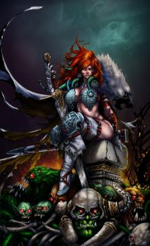 Red Sonja-color battle 11 by Crayola-madness