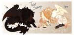 Mawmaw Auction:  Yin Yang Siblings [CLOSED] by Snappledragons
