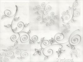 floral whirls by hermeline
