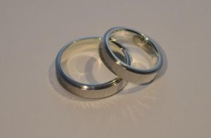 Titanium/silver engagement rings by timjo