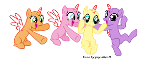 Best friends - MLP Base by Pastel-Pocky