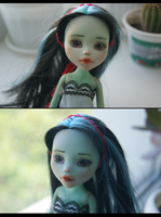 Monster High custom: Frankie as Forest Mavka by Hitomi-Kin