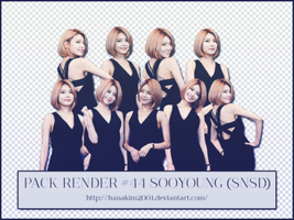 Pack Render #44 Sooyoung (SNSD) by HanaKim2001